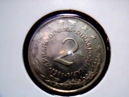Yugoslavia KM 57    2 Dinara 1981 - Yugoslavia