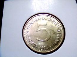 Yugoslavia KM 88    5 Dinara 1984 - Joegoslavië