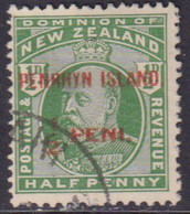 PENRHYN Cook Islands 1915 SG #19c ½d Vermilion Opt. Used CV £8 - Penrhyn
