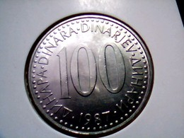 Yugoslavia KM 114    100 Dinara 1987 - Yugoslavia