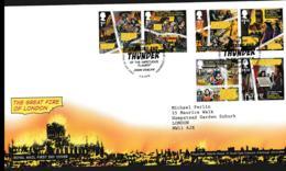 Great Britain FDC 2016 The Great Fire Of London (NB**LAR8-85) - 2011-... Dezimalausgaben