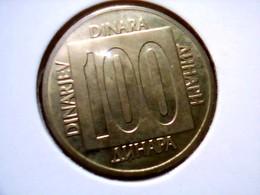 Yugoslavia KM 134    100 Dinara 1989 - Yugoslavia