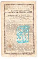DP Maria Theresia C. George / Croo 30j. ° Poperinge 1870 † 1901 - Devotion Images