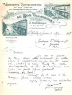 """COMMEGRAIN  Vetements Confectionnés   """"Au Bon Villageois""""  CHALON Sur SAONE  Belle Illustration - France"""