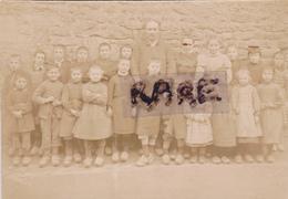 PHOTO ANCIENNE,45,LOIRET,GRANGERMONT,1900,ENFANT,CLASSE,ECOLE,PROFESSEUR,SABOT,SABOTS,RARE - Lieux