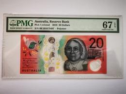2019 Australia Reserve Bank 20 Dollars Pick Unlisted PMG 67 EPQ Superb Gem UNC - Australia