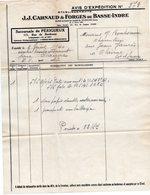 PERIGUEUX  JJ CARNAUD & FORGES DE BASSE INDRE  -  FACTURE 1940 POUR CLAIRAC - France