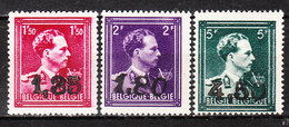 724U/W*  Leopold III Col Ouvert Surchargé GHISLENGHIEN - Série Complète - Timbres Signés - MH* - LOOK!!!! - 1946 -10%