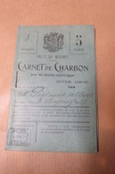 CARNET DE RATIONNEMENT DE CHARBON DE LA VILLE DE BOLBEC 1929 COMPLET DES 30 VIGNETTES A DECOUPER - Autres Collections