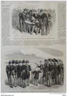 Napoléon III - Le Camp De Chalons - L'Empereur Essaye Un Nouveau Pistolet Révolver - Page Original 1868 - Historical Documents