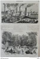 Napoléon III - Forêt De Compiègne, Sa Majesté  Visite Les Fouilles Faites Au Cimetière Gallo-romain - Page Original 1868 - Historical Documents