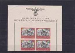 Generalgouvernement (GG) 5 Jahre GG, MiNr. 125U, **, Leichte Knitter Gummiseite - Occupation 1938-45
