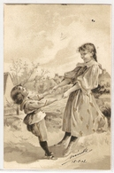 K 216, VERY OLD ( 1903)  FANTASY  POSTCARD  , CHILDREN , FINE ART , - Otros