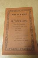 PROGRAMME CONCERT SYMPHONIQUE  VILLE DE BOLBEC 1963 - Autres Collections