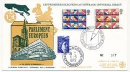 GRANDE BRETAGNE / FRANCE - Premières élections Au Suffrage Universel Direct FDC Edinburg + Arrivée Conseil Europe - Idées Européennes