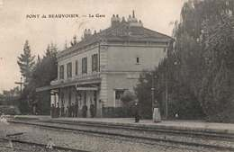 CPA 38 Pont De Beauvoisin La Gare - Sonstige Gemeinden