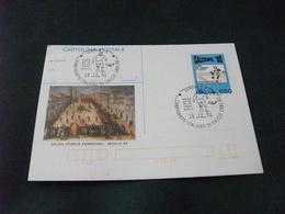 Cartolina Postale CALCIOFIL 90   CALCIO STORICO FIORENTINO  ANNULLO FILATELICO CAMPIONATO ITALIANO DI CALCIO 1991 92 - 6. 1946-.. Repubblica
