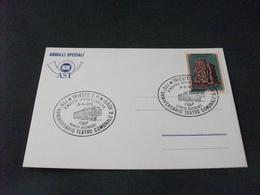 Cartolina Postale  ANNULLO FILATELICO SPECIALE AST 175° ANNIVERSARIO TEATRO COMUNALE G. VERDI TRIESTE - 6. 1946-.. Repubblica