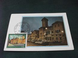 Cartolina Postale  ANNULLO FILATELICO MAXIMUM N° 268 ED. ROMA ASIAGO PIAZZA RISORGIMENTO E PALAZZO COMUNALE - 6. 1946-.. Repubblica