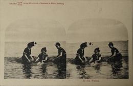 Stereo - AK // Strand - Beach Fun // In Den Wellen Ca 189? - Ansichtskarten