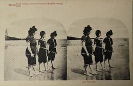 Stereo - AK // Strand - Beach Fun // Am Strande  No. 2. Ca 189? - Ansichtskarten