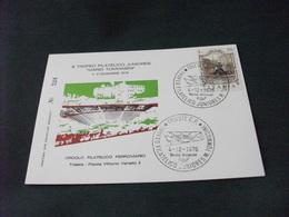 Cartolina Postale ANNULLO FILATELICO III TROFEO FILATELICO JUNIORES MARIO TOMMASINI CIRCOLO FILATEL. FERROVIARIO TRIESTE - 6. 1946-.. Repubblica