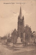WIJNEGEM / TIELT / MONUMENT 1914-18 EN DE KERK - Tielt