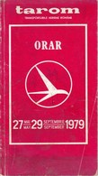 Romania, 1979, Vintage Timetable /Flight Route Maps - TAROM Airlines (62 Pages) - Documentos Históricos