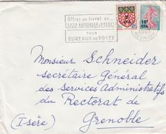 LETTRE. 17 10 63. CAISSE D'EPARGNE ST DENIS REUNION POUR GRENOBLE - Reunion Island (1852-1975)