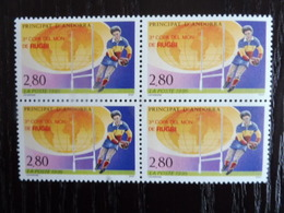 ANDORRE FRANCAIS - 1995 RUGBY BLOC DE 4 - YT 455 MNH ** - Nuovi