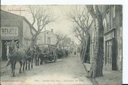 BAGES - Transport Des Vins (attelages)- (petit Pli Dans Un Angle , Voir Scan) - Autres Communes