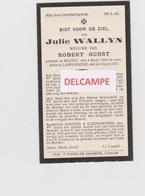 DOODSPRENTJE WALLYN JULIE WEDUWE GUNST BEERST LAMPERNISSE 1850 - 1931 - Devotion Images