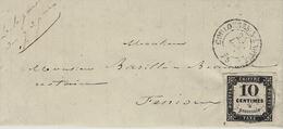 1861 - Lettre De COULLONGES-S-LAUTIZE ( Deux Sèvres ) TAXE 10 C Type 1II B - Marcophilie (Lettres)