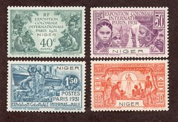 Niger N°53/56 N* TB Cote 28 Euros !!! - Niger (1921-1944)