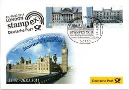 "BRD Offizieller Messebeleg ""LONDON Stampex 23.-26.02.2011"" MeF BRD  Mi Marken Aus Block 76 SSt 23.2.2011 BONN - [7] République Fédérale"