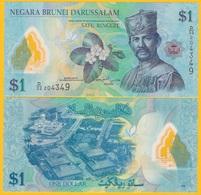 Brunei 1 Ringgit P-35b 2013 UNC Banknote - Brunei