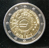 Germany - Allemagne - Duitsland   2 EURO 2012 F   10 Years Euro      Speciale Uitgave - Commemorative - Germany