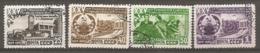 RUSSIE -  Yv N° 1440 à 1443   (o)  Turkmenistan Cote  17,5 Euro BE   2 Scans - 1923-1991 UdSSR