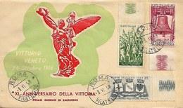Fdc Roma: 40° VITTORIA (1958); No Viaggiata; AF_Roma - F.D.C.