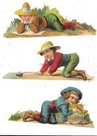 Lot De 3 DECOUPIS , CHOCOLAT BESNIER, LE MANS, Enfants, - Enfants