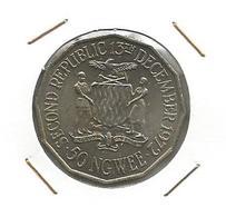 A7 Zambia 50 Ngwee 1972. KM#16 - Zambia