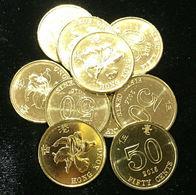 Hong Kong - 50 Cents 2015 UNC Bank Bag - Hong Kong
