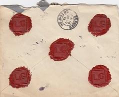 LETTRE. 25 7 13. RECOMMANDÉ LOUIS GERFAUX NOTAIRE A ARNAY-LE-DUC COTE-D'OR POUR BEAUNE - Marcophilie (Lettres)