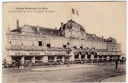 NIZZA - CASINO MUNICIPAL DE NICE - LA PLUS BELLE TERRASSE ENSOLEILLÉE DU MONDE - 1927 - Vedi Retro - Formato Piccolo - Monuments, édifices