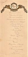 Rare Menu Du 7 Juin 1924 Ornement Gaufré Et Doré - Menus