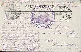 """Guerre 14 Cachet Déesse Assise Dépôt Du Fort De Lourdes Manuscrit """"Dépôt Alsaciens Lorrains """" CAD Ray 26 11 1916 - WW I"""