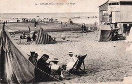 CPA CASABLANCA - LA PLAGE - Casablanca