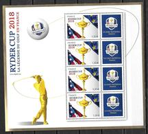 France 2018 Bloc N° 142 Neuf Golf Ryder Cup Faciale +10% - Sheetlets