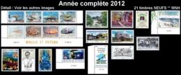 WALLIS ET FUTUNA Année Complète 2012 - Yv. 760 à 780 ** MNH   - 21 Timbres  ..Réf.W&F22628 - Full Years
