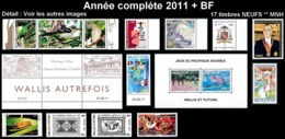 WALLIS ET FUTUNA Année Complète 2011 + BF26 - Yv. 745 à 759 + … ** MNH   - 17 Timbres  ..Réf.W&F22629 - Full Years